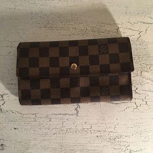 Louis Vuitton Damier Ebene Wallet Long Continental